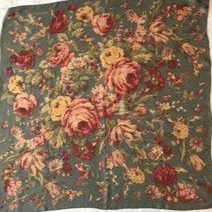 """Vintage Ralph Lauren silk scarf (35"""" x 35"""")"""